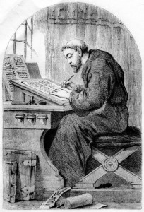 monk-writing