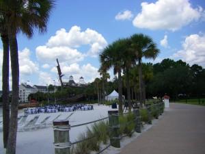 Shipwreck and beach at Disneyworld