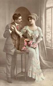 valentine's day antique card